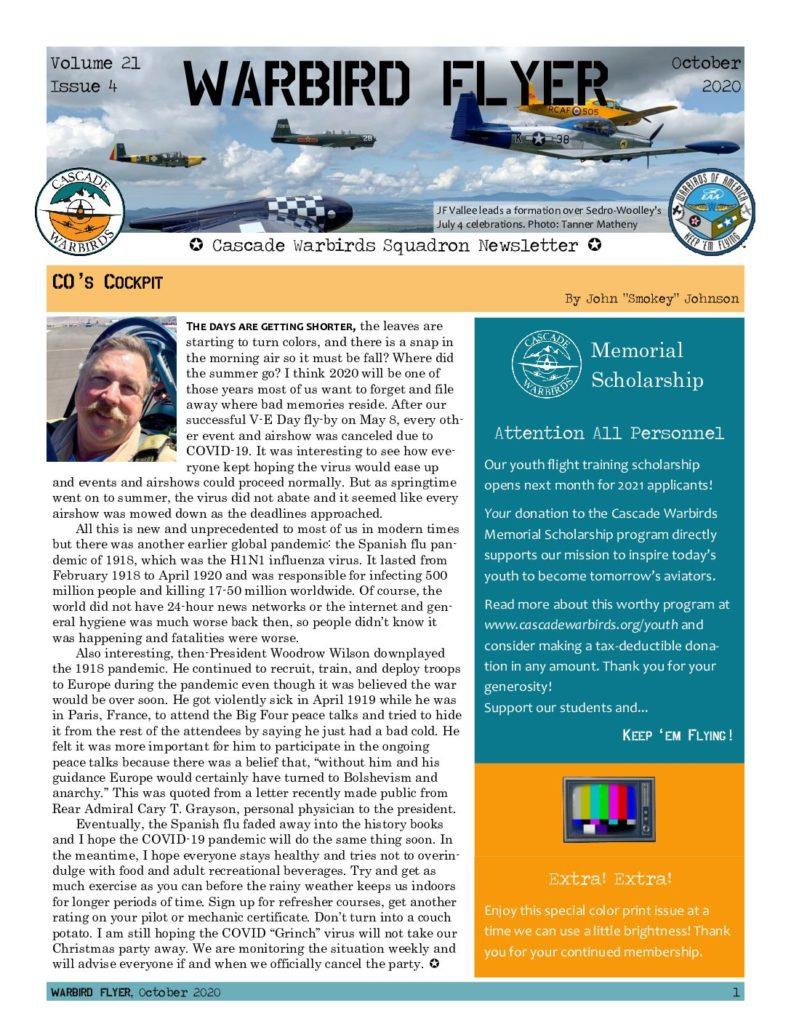 Oct 2020 Warbird Flyer